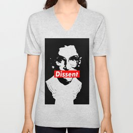 Ruth Bader Ginsburg Dissent Feminist Political RBG Unisex V-Neck