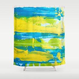 Paint (cool) Shower Curtain