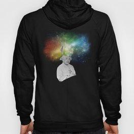 Albert Einstein With A Rainbow Galaxy Hoody