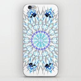 ice flake winter mandala iPhone Skin