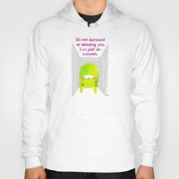 introvert Hoodies featuring Introvert by Chika Ando
