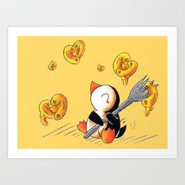 Gooey, Cheesy Hearts Art Print
