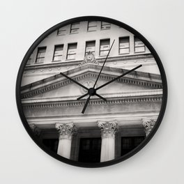 Federal Reserve Bank of Chicago Black and White Wall Clock
