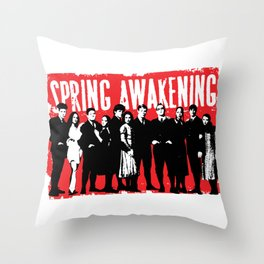 Spring Awakening Original Broadway Cast Throw Pillow