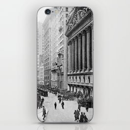 Vintage Wall Street NYC Photograph (1921) iPhone Skin