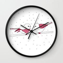 Sweater Birds Wall Clock