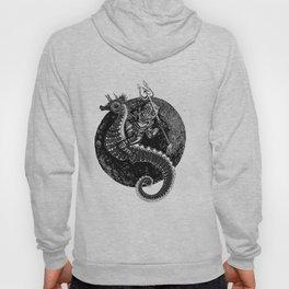 Neptun's Steed- Black & White Hoody