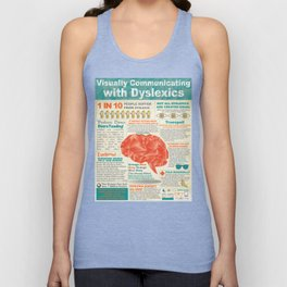 Visually Communicating with Dyslexics Infrographic Unisex Tank Top