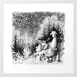 Lute Player Art Print