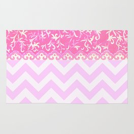 chevron and frieze Rug
