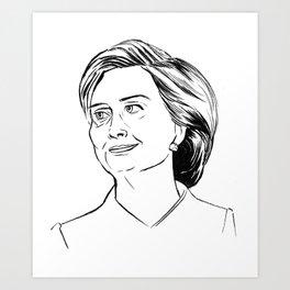 Hillary Art Print