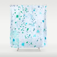 pain Shower Curtains featuring Cold pain by Manuela Mishkova