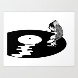Don't Just Listen, Feel It Art Print