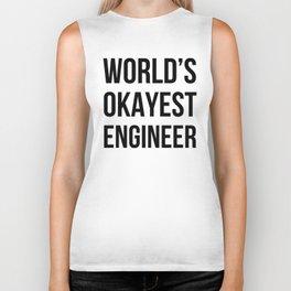 World's Okayest Engineer Biker Tank