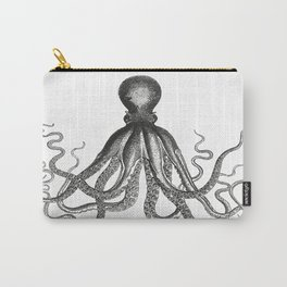 Octopus   Vintage Octopus   Tentacles   Black and White   Carry-All Pouch