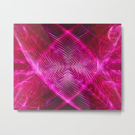 "Feminine Sophisticated Pink ""X"" Digital Art Décor Metal Print"