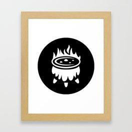 Halloween Witch Cauldron Ideology Framed Art Print
