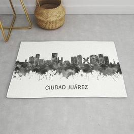 Ciudad Juárez Mexico Skyline BW Rug