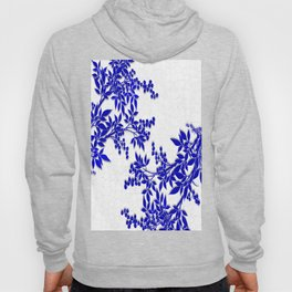 BLUE AND WHITE  TOILE LEAF Hoody