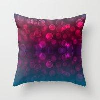 splash Throw Pillows featuring Splash by Aloke Design