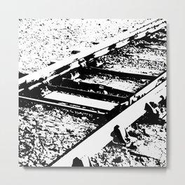 Railway Lines Metal Print