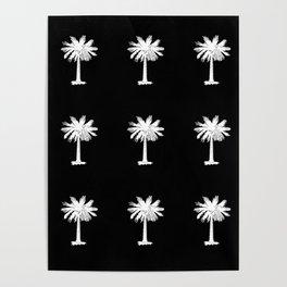 Palmetto 3-palms,drupe,sabal,swamp,cabbage,abanico,drupa,palmera Poster