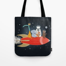 lets all go to the moon Tote Bag