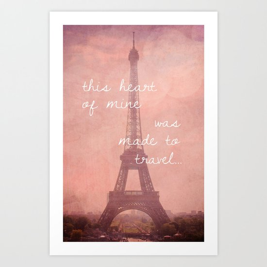 This Heart Was Made to Travel Art Print
