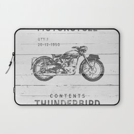 Vintage Triumph Thunderbird Motorcycle Laptop Sleeve