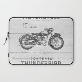 Vintage Triumph Thunderbird Motorcycle Laptop Sleeve