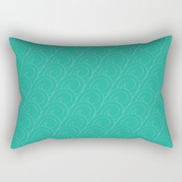 Tropical Life in Vintage Blue Rectangular Pillow