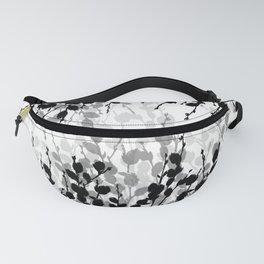 Elegant Pussywillow | Black • White • Gray Fanny Pack