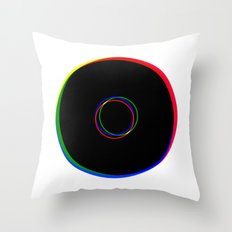 RGB Ringing Throw Pillow