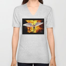 Lucifer Morningstar fire Unisex V-Neck