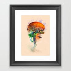 Jellyfish Ink Framed Art Print