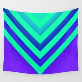 Cyan & Violet Chevron Wall Tapestry