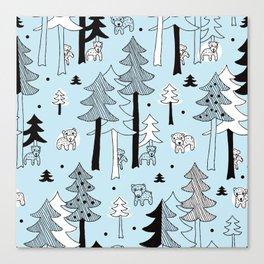 Scandinavia winter forest Canvas Print
