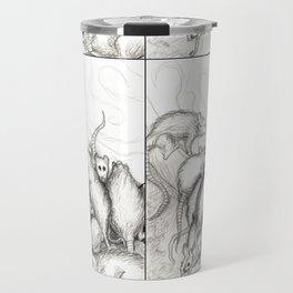 Rats Feeding on Milk Travel Mug