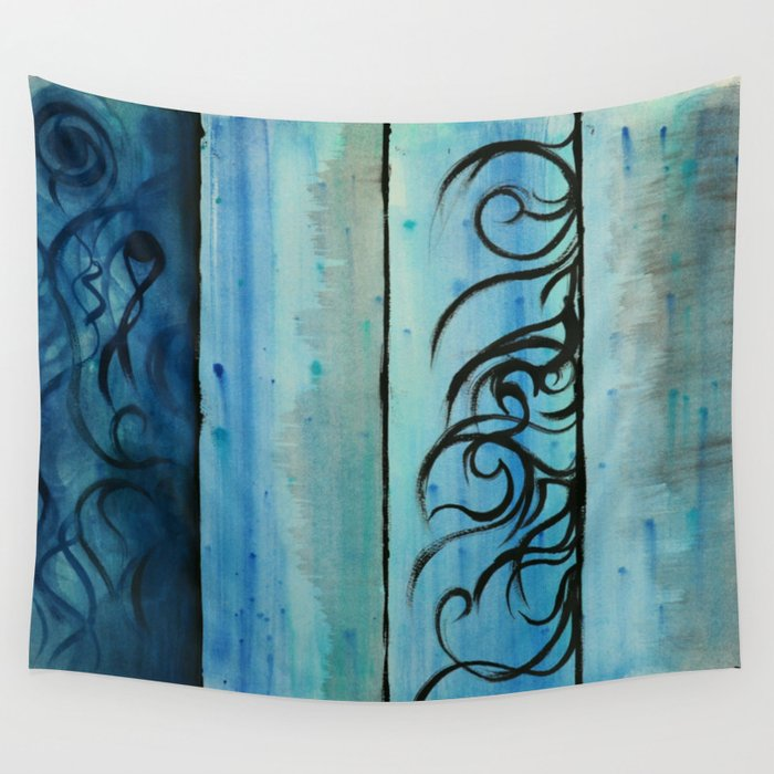 Four Waters Come to Life Wall Tapestry
