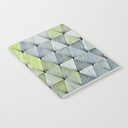 Textured Triangles Lime Gray Notebook