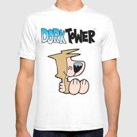 DORK TOWER - Carson the Muskrat White Mens Fitted Tee MEDIUM