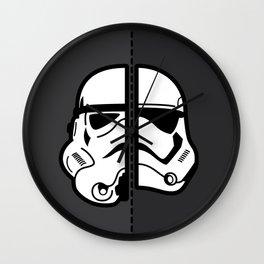 Old & New Storm Trooper  Wall Clock