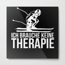 Alpine Skiing Metal Print
