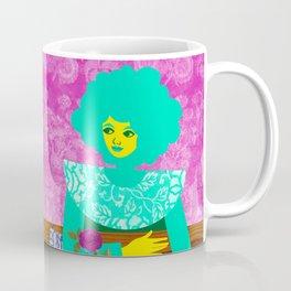 Rose and Green Dress Coffee Mug