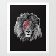David Bowie Lion Art Print