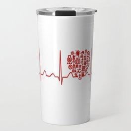 Chemistry Teacher Heartbeat Travel Mug