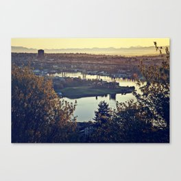 Gasworks at Dawn Canvas Print