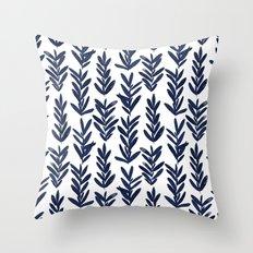 Sage - Indigo Throw Pillow