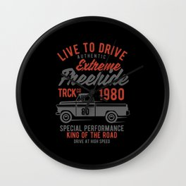 live to drive extreme freeride Wall Clock