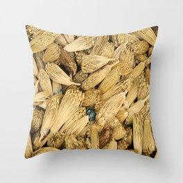 Dried Herbs Throw Pillow